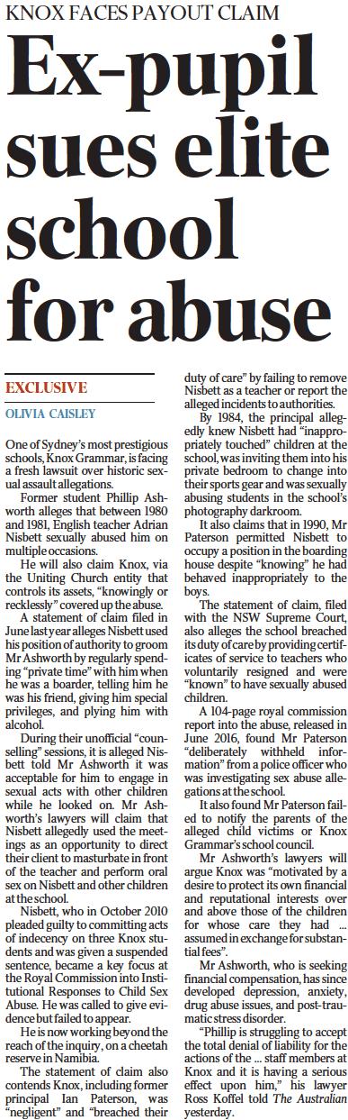 The Australian Knox Grammar Abuse